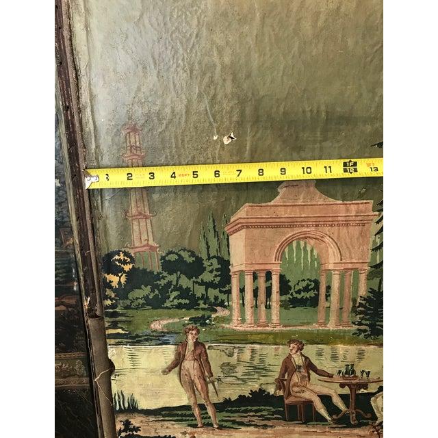 Canvas Vintage Zuber Wallpaper 6 Panel Screen For Sale - Image 7 of 11