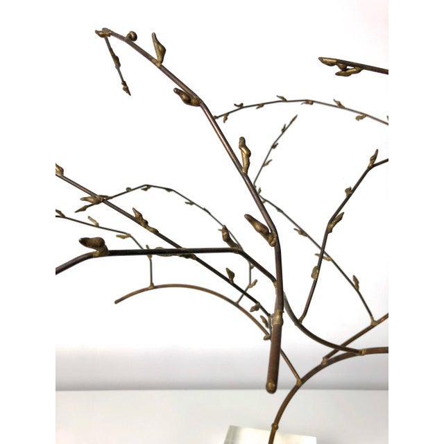 1970s Brutalist Brass Willow Tree Sculpture For Sale - Image 9 of 11