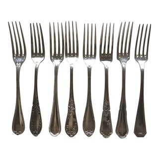 Vintage French Dinner Forks - Set of 8