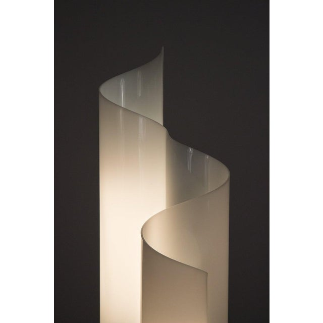 White Mid 20th Century Vico Magistretti Mezzachimera Lamp For Sale - Image 8 of 11