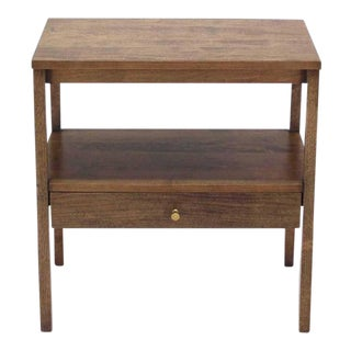 Mid-Century Modern 1 One Drawer End Table Stand For Sale