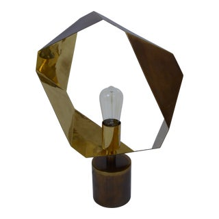 Gold Geometric Halo Lamp For Sale