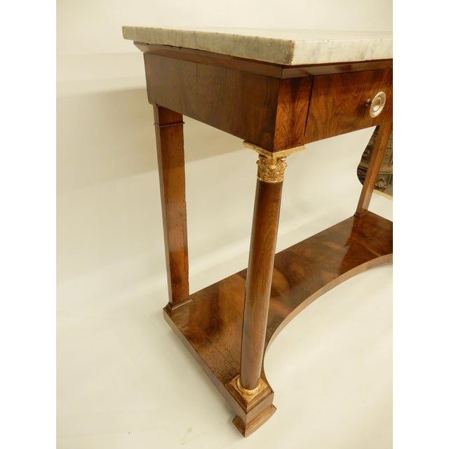 French Empire Walnut Console For Sale - Image 4 of 10