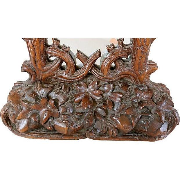 Antique Hand-Carved Black Forest Bureau Mirror - Image 2 of 7