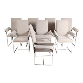 Milo Baughman Style Dining Chairs by Cal-Style Furniture For Sale