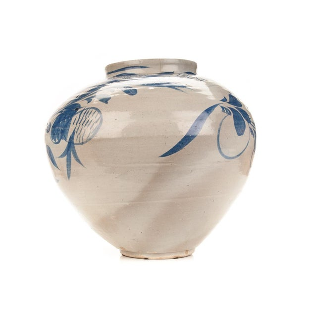 Antique Korean Blue & White Glazed Pot C.1920s - Image 2 of 9