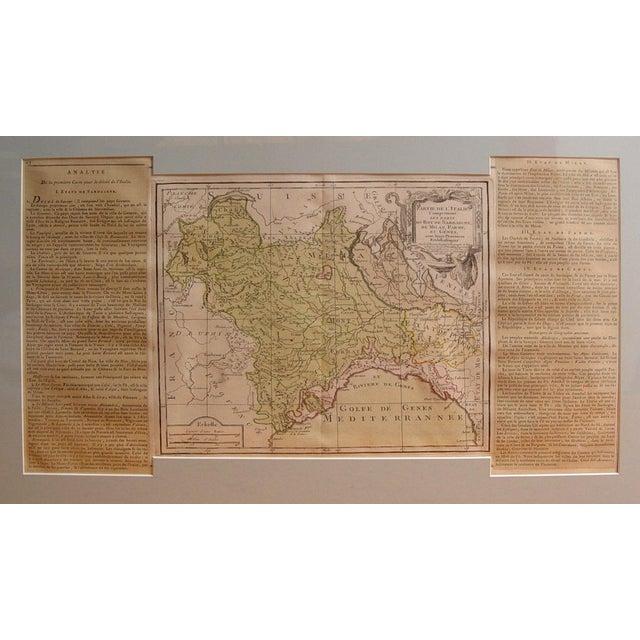 Italian Louis Brion De La Tour Map, Italy, 1766 For Sale - Image 3 of 3