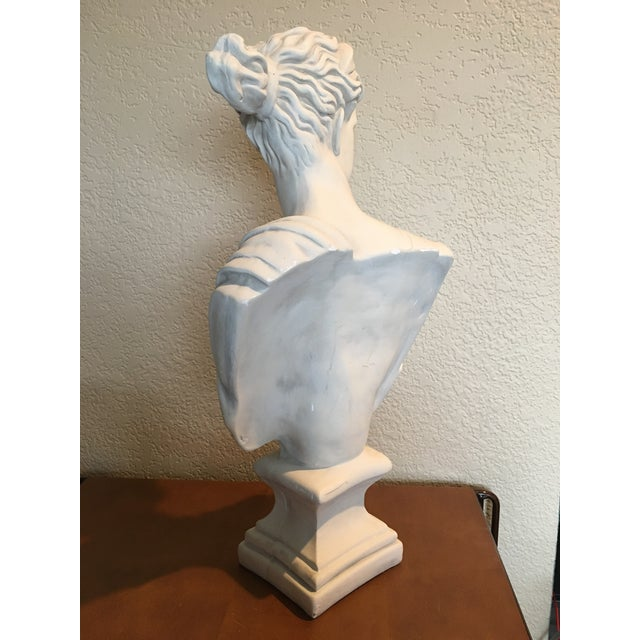 1980s Diana Goddess of the Hunt Large Scale Bust Sculpture For Sale - Image 4 of 10
