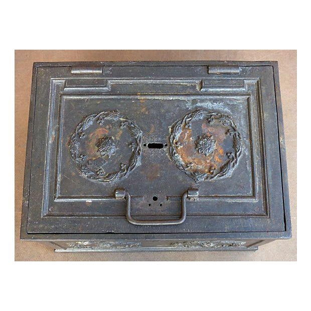 Antique Iron Safe For Sale - Image 7 of 10