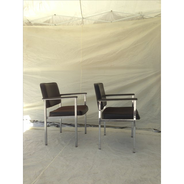 All Steel Co. Office Club Chairs - A Pair - Image 4 of 8