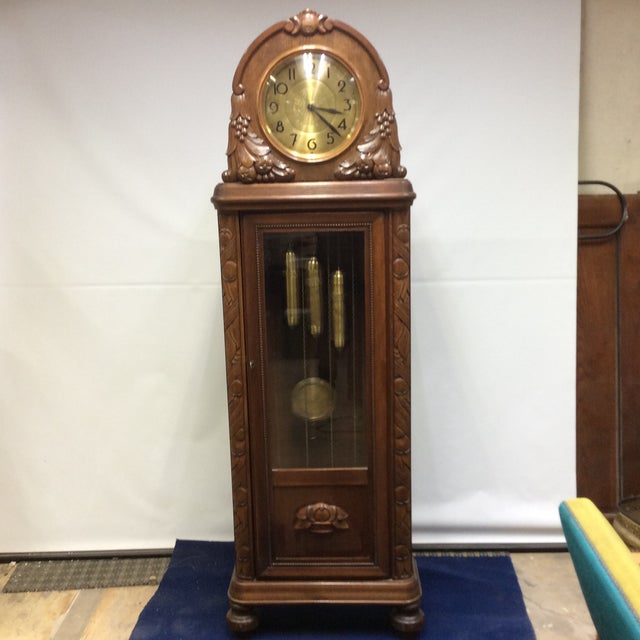Antique Early 20th Century A. Kieninger German Grandfather Clock For Sale - Image 13 of 13