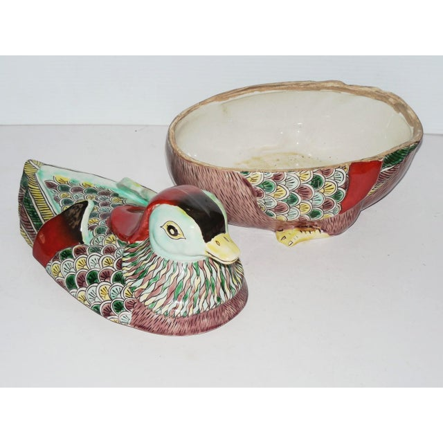 Early 20th C. Famille Rose Waterfowl Tureen - Image 6 of 8