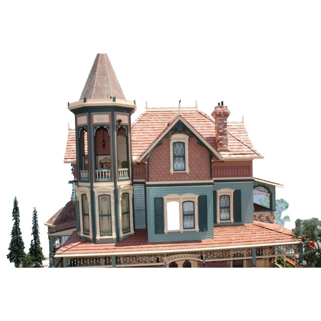 Traditional Massive 7 Foot With Case Doll House From the Heritage Museum l.a on S. Calif. Architecture For Sale - Image 3 of 11