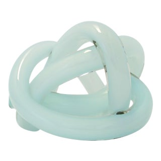 SkLO Wrap Object Glass Knot - Celadon Green For Sale