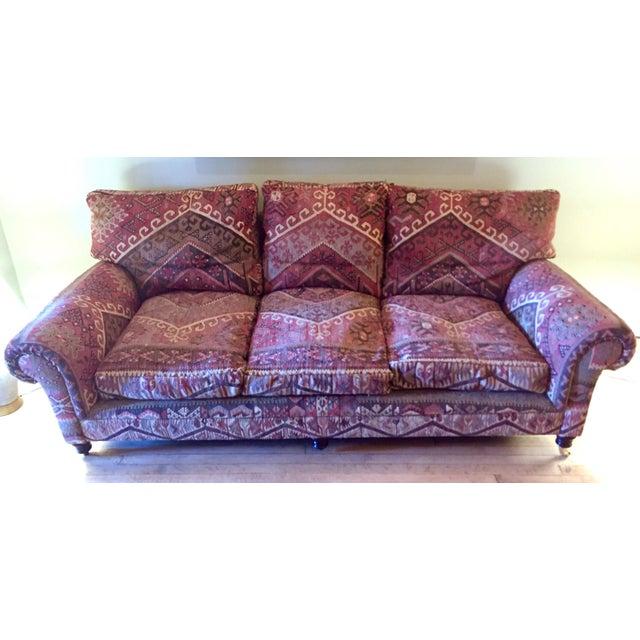 George Smith 8-Foot Kilim Sofa For Sale - Image 12 of 12