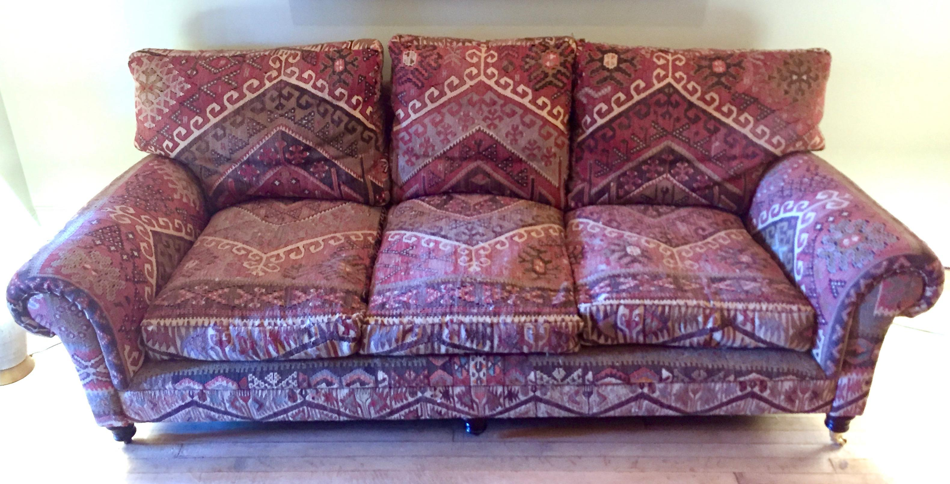 George Smith 8 Foot Kilim Sofa For Sale   Image 12 Of 12