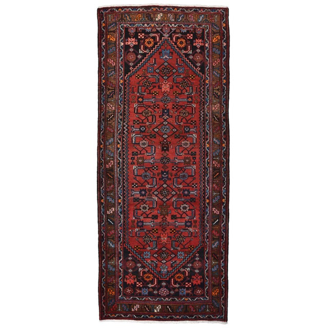 Vintage Persian Hamadan Runner - 4'2'' X 10' For Sale - Image 13 of 13