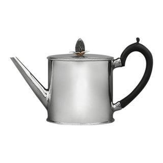Hester Bateman Georgian Silver Round Teapot