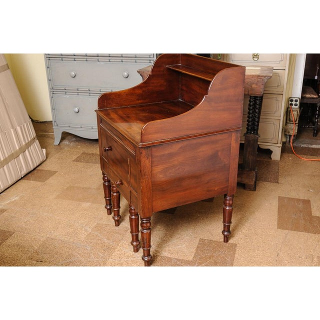 Antique English Mahogany Night Stand For Sale In West Palm - Image 6 of 7