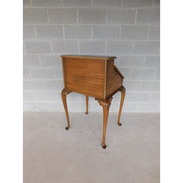 """Weiman Georgian Queen Anne Style Walnut Slant Front Writing Desk 41""""h X 26""""w For Sale - Image 11 of 12"""