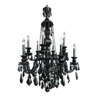 Schonbek Hamilton 12-Light Glass Chandelier For Sale