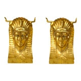 Image of 20th Century Egyptian Revival Pharaoh Dining Table Base For Sale