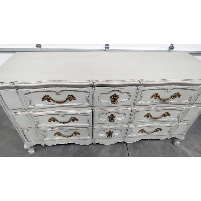 20th Century French Country Painted Decorated Dresser For Sale - Image 4 of 10
