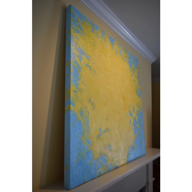 """Forsythia"" Abstract Painting - Image 4 of 9"