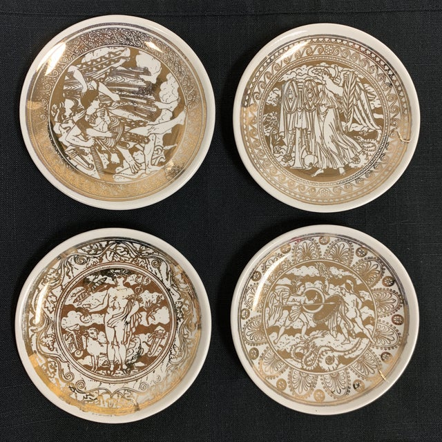 Vintage Fornasetti Mitologia coasters/small plates. Set of 8. They come in the original box. Mitologia series Made in...