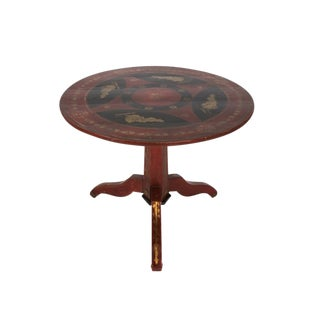 20th Century Jacobean Painted Tilt Top Table For Sale