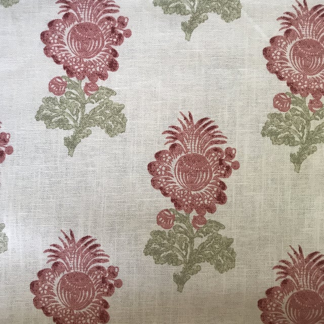 2020s Thibaut Aldith Linen Blend Fabric- 7 1/2 Yards For Sale - Image 5 of 5