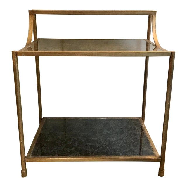 Modern Reverse Painted Glass Bar Table For Sale