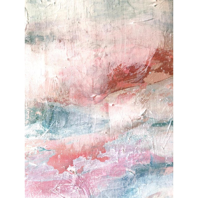 Paint Contemporary Abstract Expressionist Pastel Acrylic Painting For Sale - Image 7 of 8