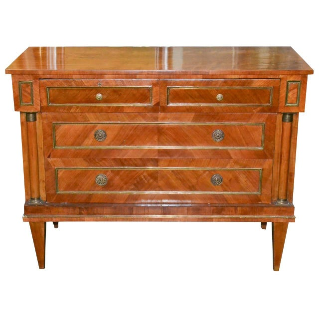 1920s Handsome Continental Walnut Commode For Sale - Image 5 of 5