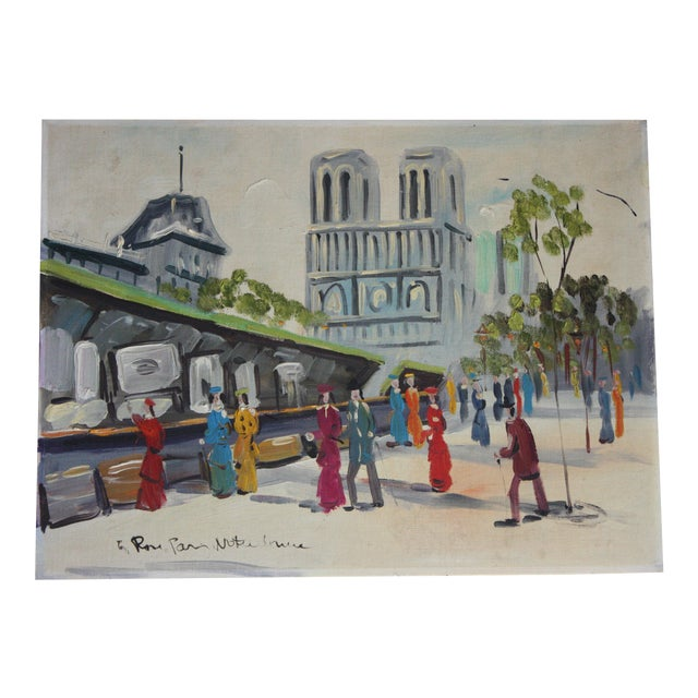 French Mid-Century Oil Painting - Image 1 of 5