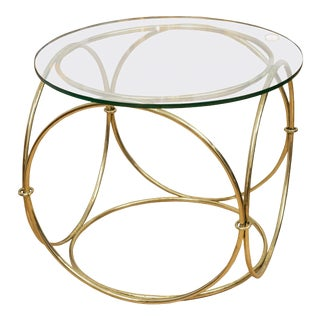 Italian Brass Occasional Table For Sale