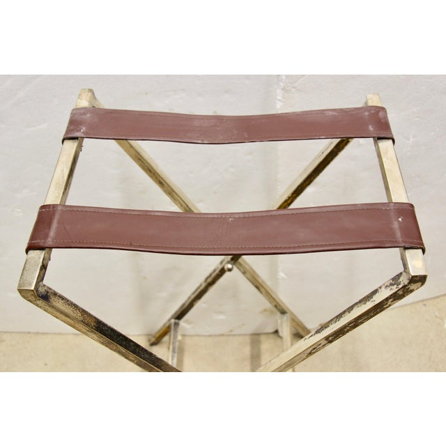 Silver-Plated Folding Tray Table For Sale In Richmond - Image 6 of 9