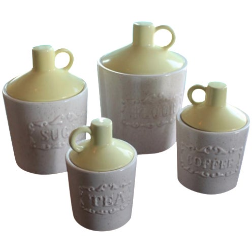 Vintage Mid-Century Canisters - Set of 4 - Image 1 of 6