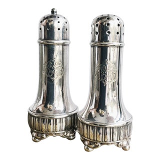 Antique Silver Soldered Salt and Pepper Shakers From Tiffany and Co For Sale