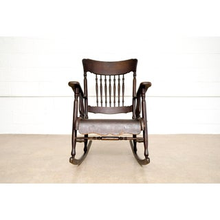 Antique Victorian Wooden Rocking Chair Preview