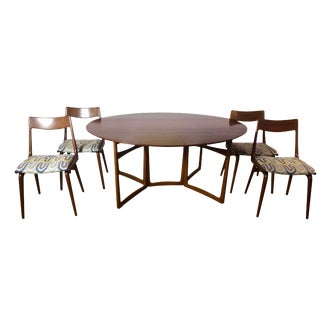 Peter Hvidt and Orla Molgaard Teak Dining Table & Chairs For Sale