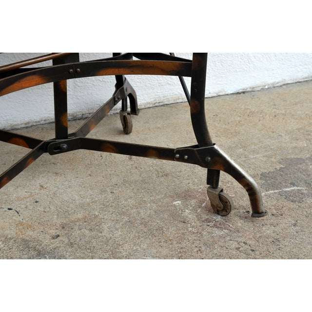 Early Industrial Rolling Desk by Toledo For Sale In Los Angeles - Image 6 of 7