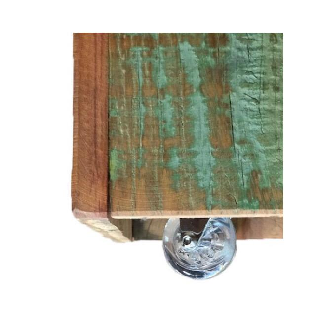 Americana Reclaimed Wood Stool For Sale - Image 3 of 4