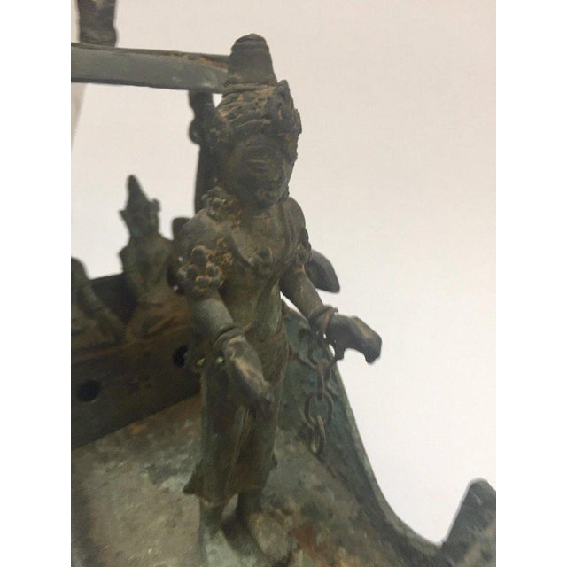 Antique Asian Bronze Chariot With Dragon Head Pulled by Horses For Sale In Los Angeles - Image 6 of 13