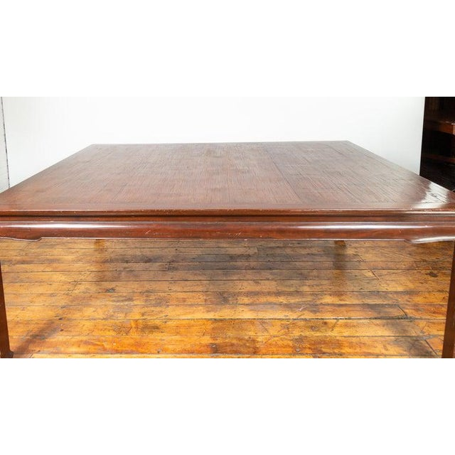 Wood Vintage Thai Open Mat Top Inlay Dining Table For Sale - Image 7 of 11
