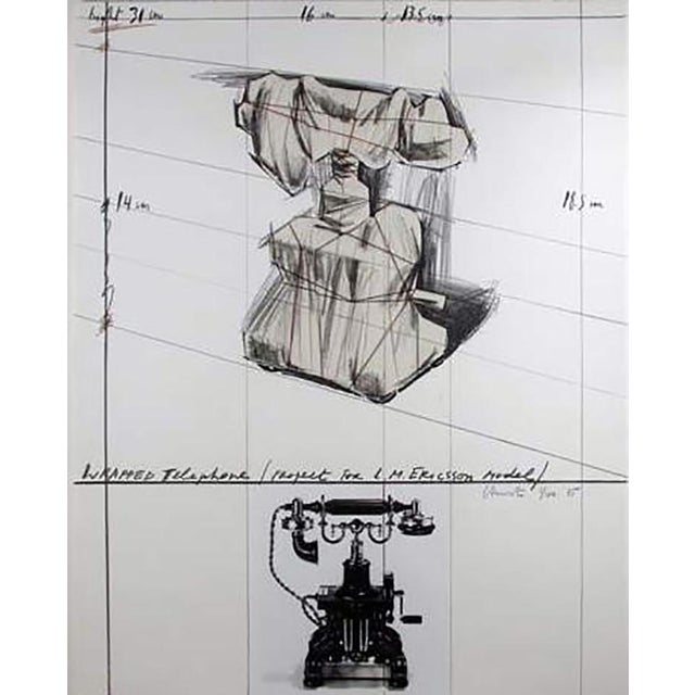 """Christo """"Wrapped Telephone Project for L. M. Ericsson Model"""" - Image 4 of 4"""