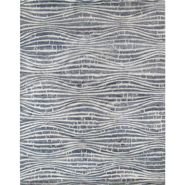 "Modern Bamboo Silk Area Rug - 9'x 11'8"" - Image 1 of 5"