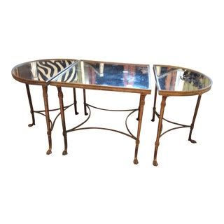 Maison Jansen Style Mirrored Cocktail Table For Sale