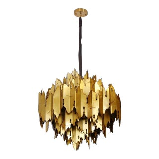 Modern Brutalist Bergamo Chandelier For Sale