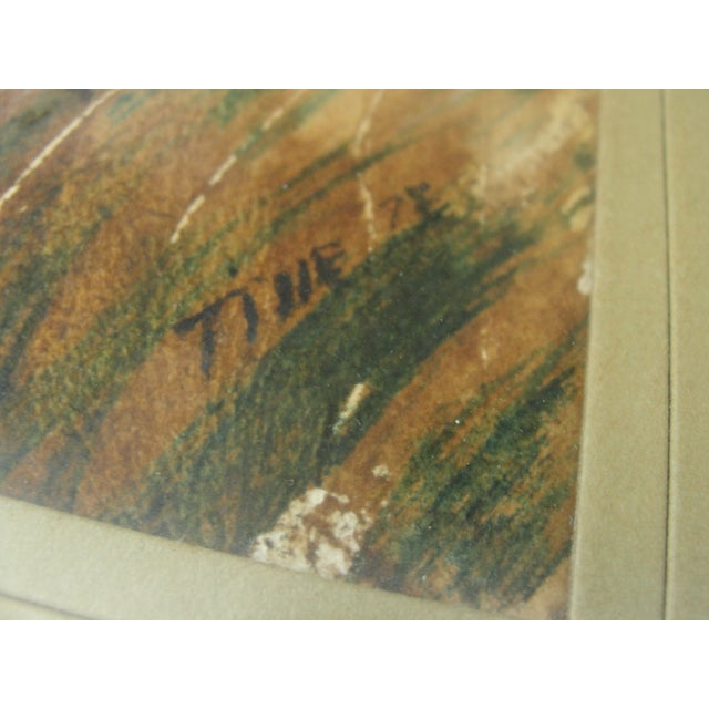Impressionist Landscape Watercolor Painting For Sale - Image 4 of 7